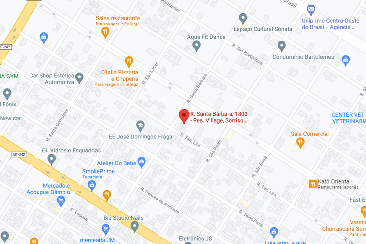 Rua Santa Barbara, 1800, Bairro Village, Sorriso-MT