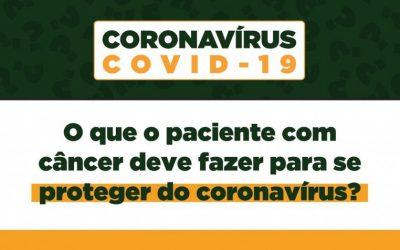 Perguntas frequentes: Câncer e coronavírus (Covid-19)